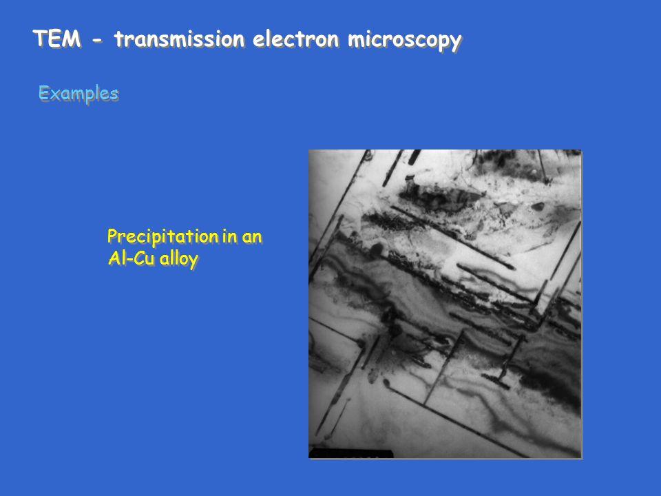 TEM - transmission electron microscopy