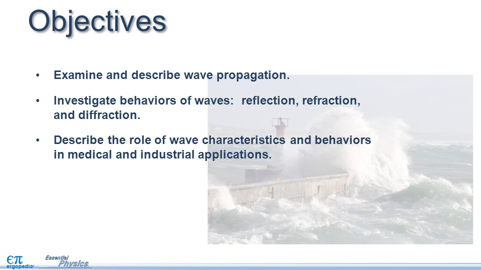 Objectives Examine and describe wave propagation.
