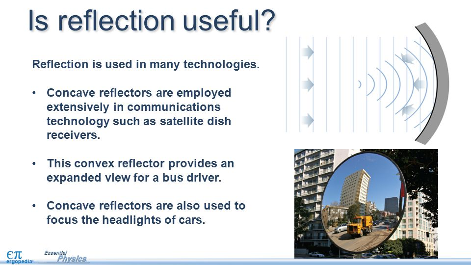 Is reflection useful Reflection is used in many technologies.