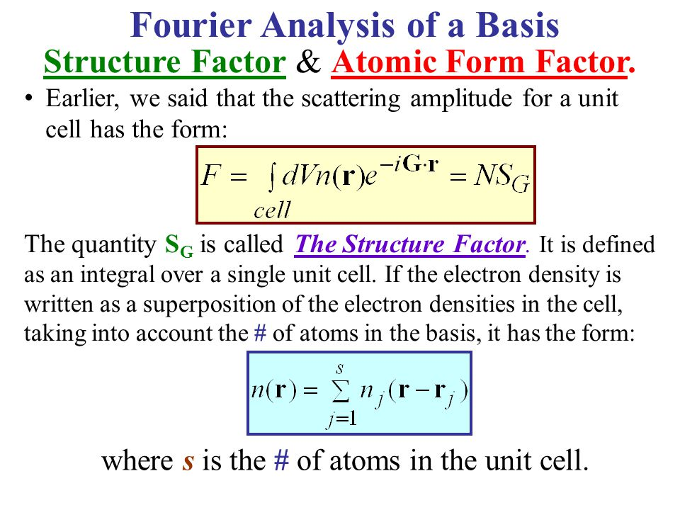 Fourier Analysis of a Basis