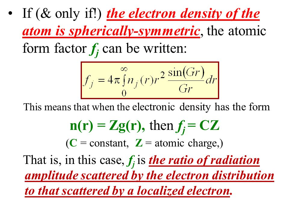 (C = constant, Z = atomic charge,)
