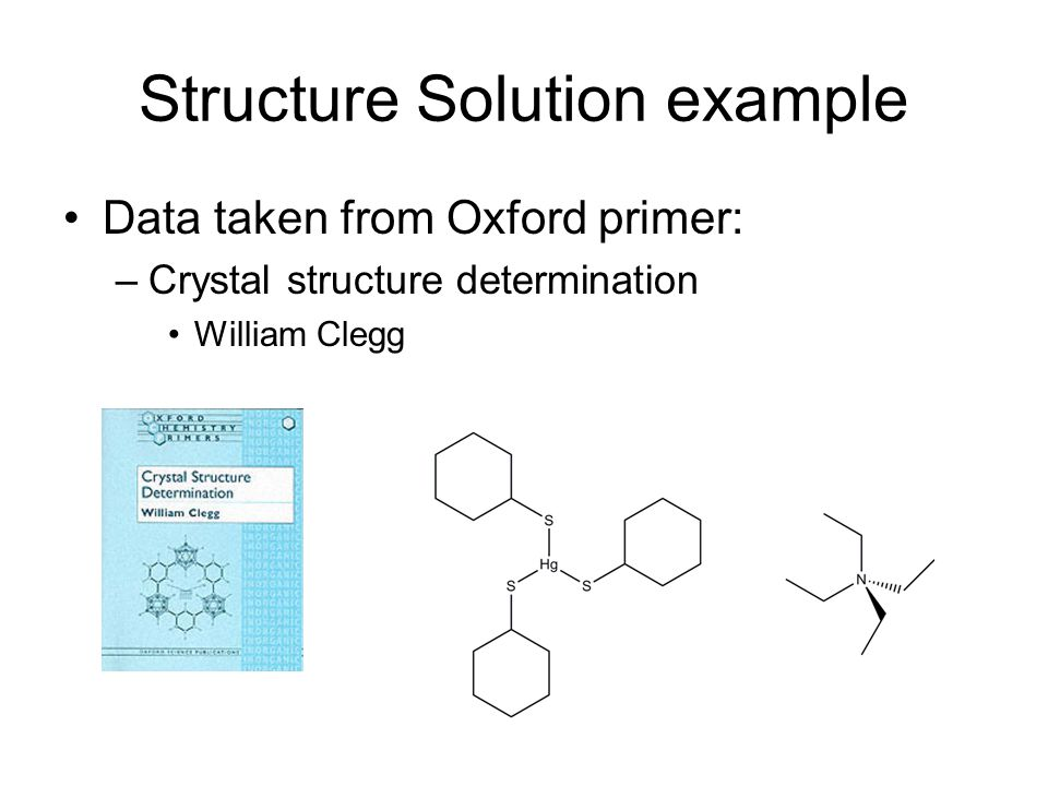 Structure Solution example