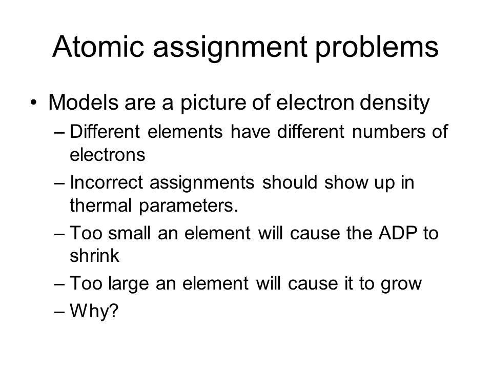 Atomic assignment problems