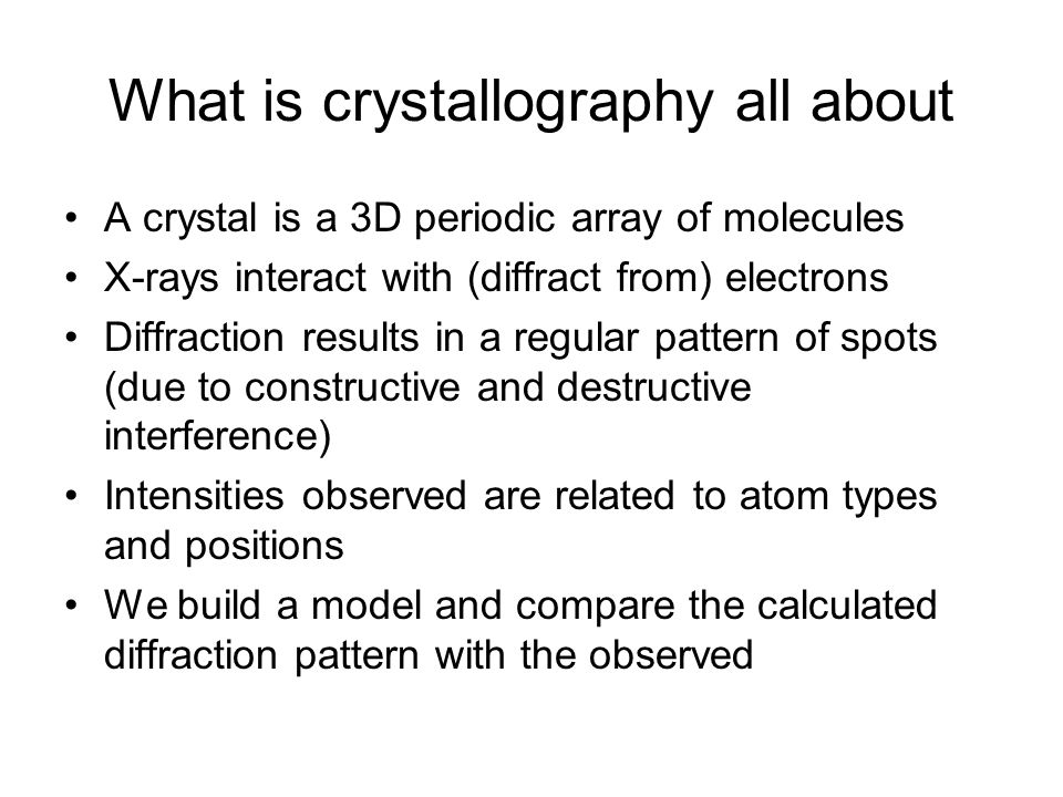 What is crystallography all about