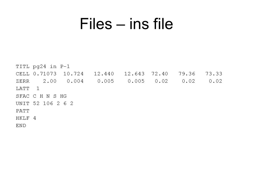 Files – ins file TITL pg24 in P-1