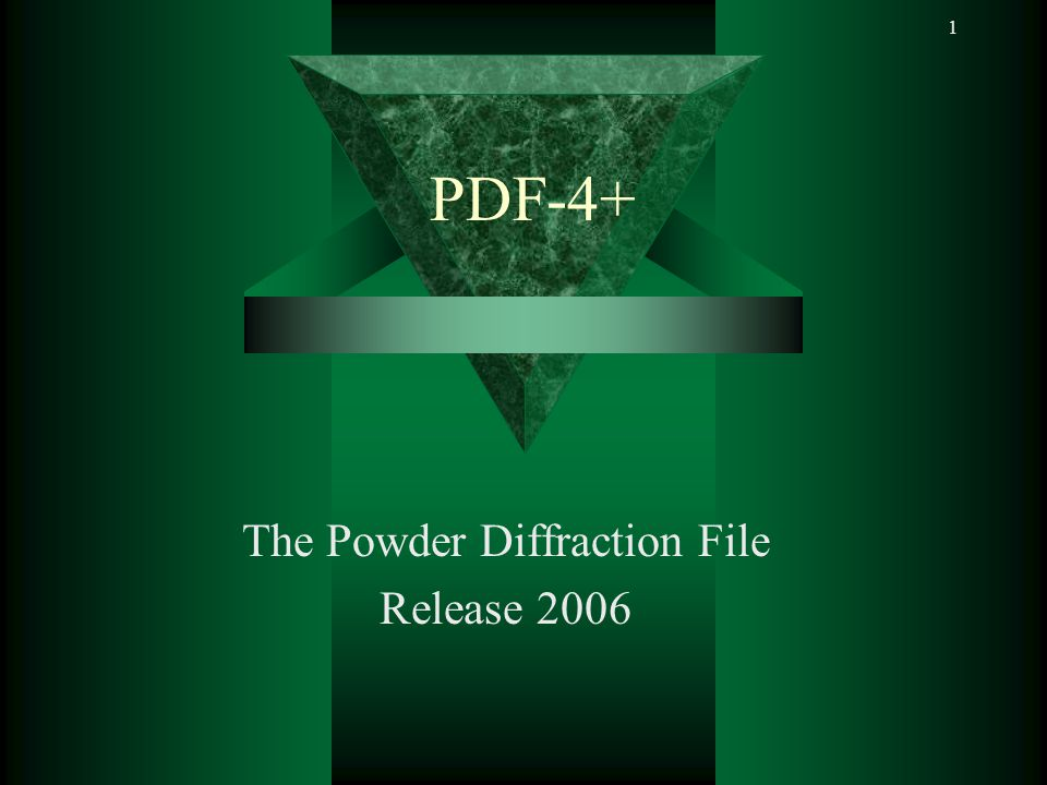 The Powder Diffraction File Release 2006