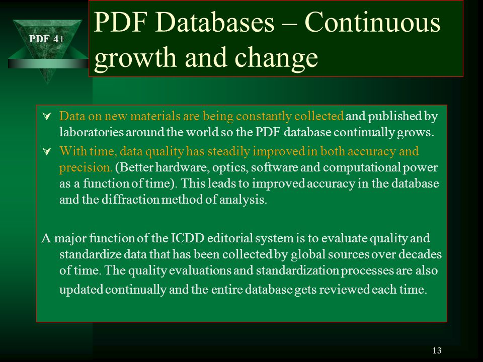 PDF Databases – Continuous growth and change