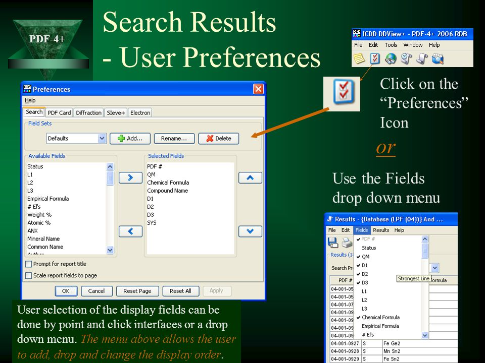 Search Results - User Preferences