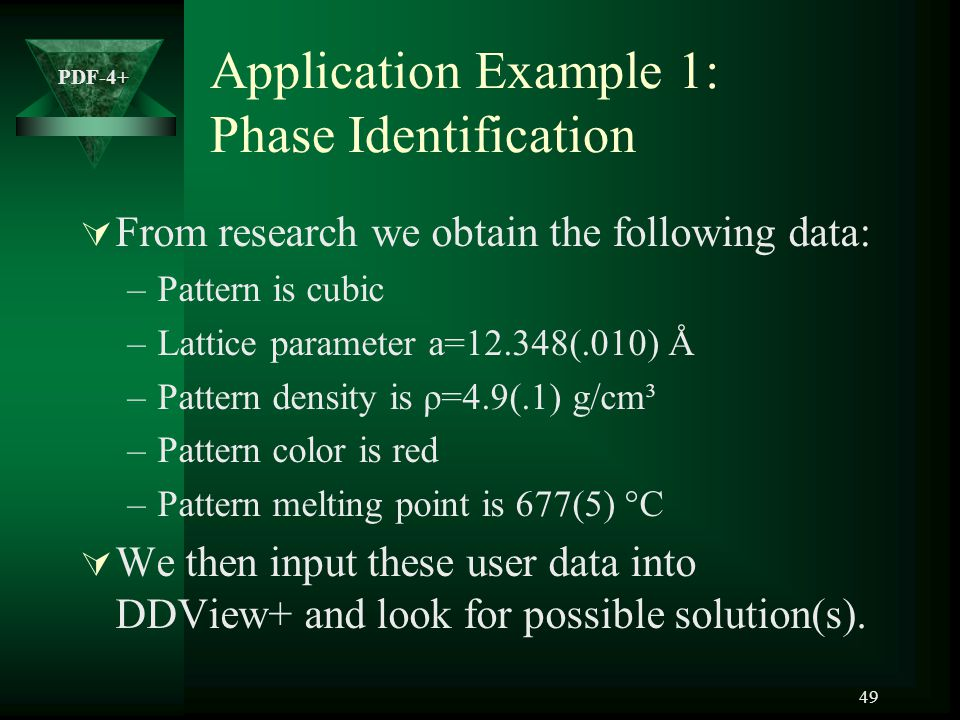 Application Example 1: Phase Identification