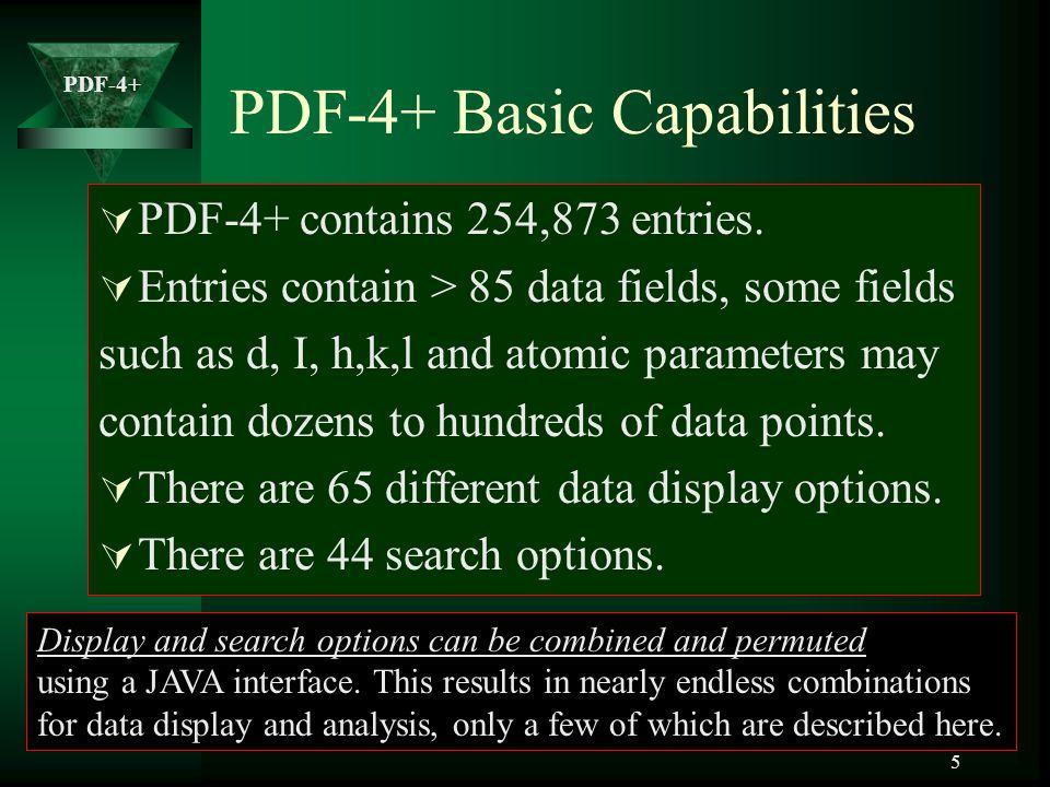 PDF-4+ Basic Capabilities