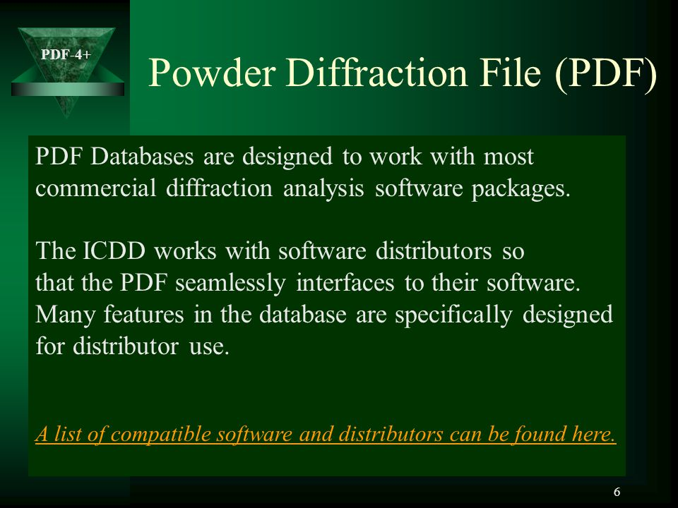 Powder Diffraction File (PDF)