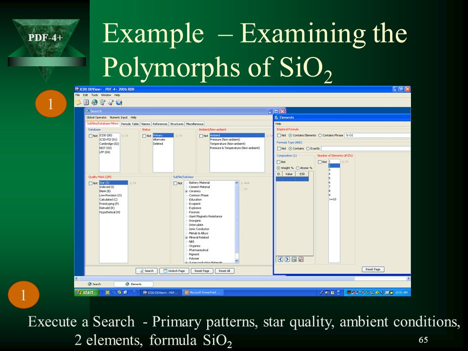 Example – Examining the Polymorphs of SiO2