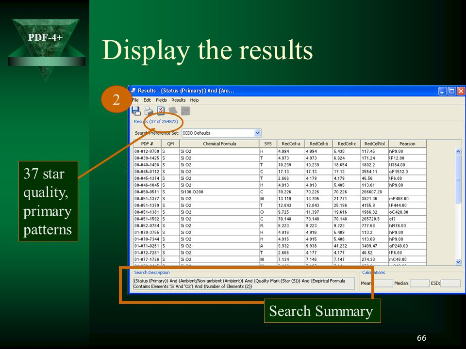 Display the results 2 37 star quality, primary patterns Search Summary