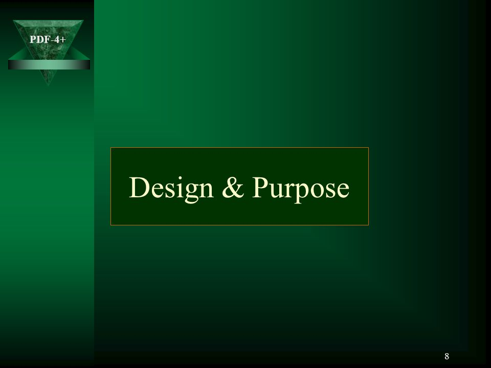 Design & Purpose