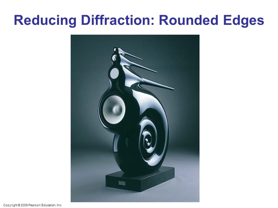 Reducing Diffraction: Rounded Edges