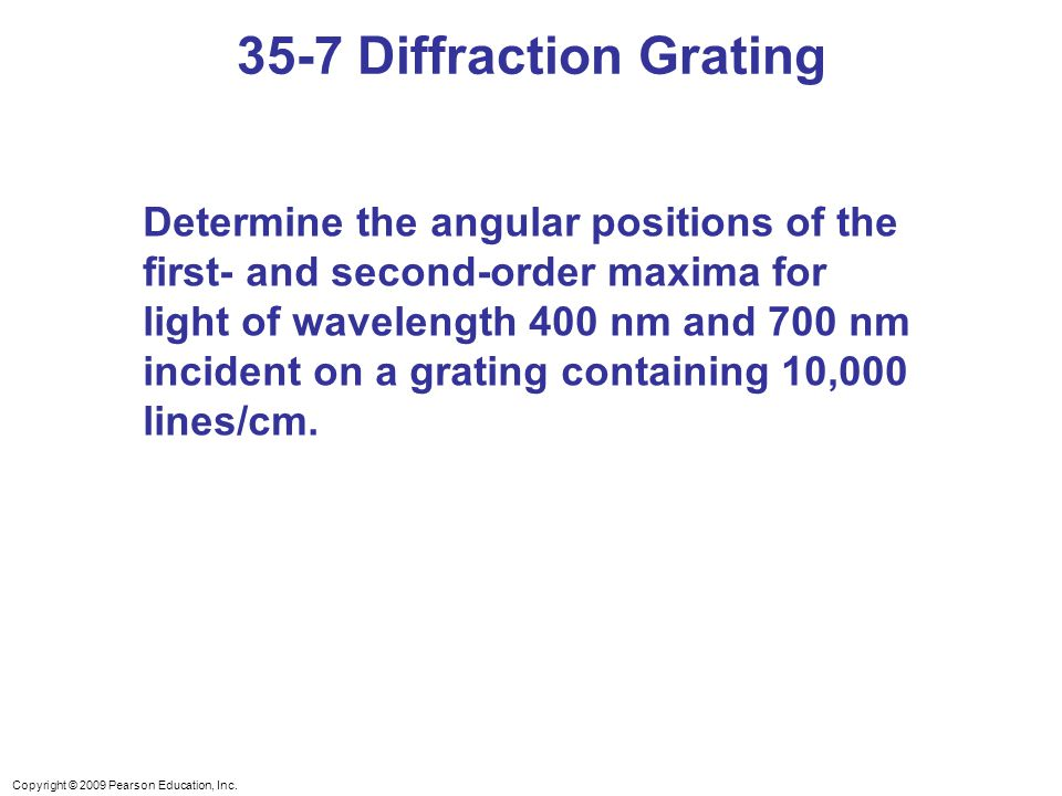 35-7 Diffraction Grating