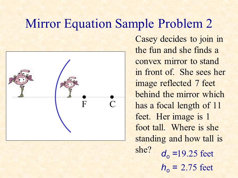 Mirror Equation Sample Problem 2