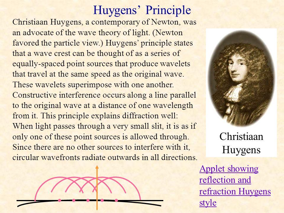 Huygens' Principle • Christiaan Huygens