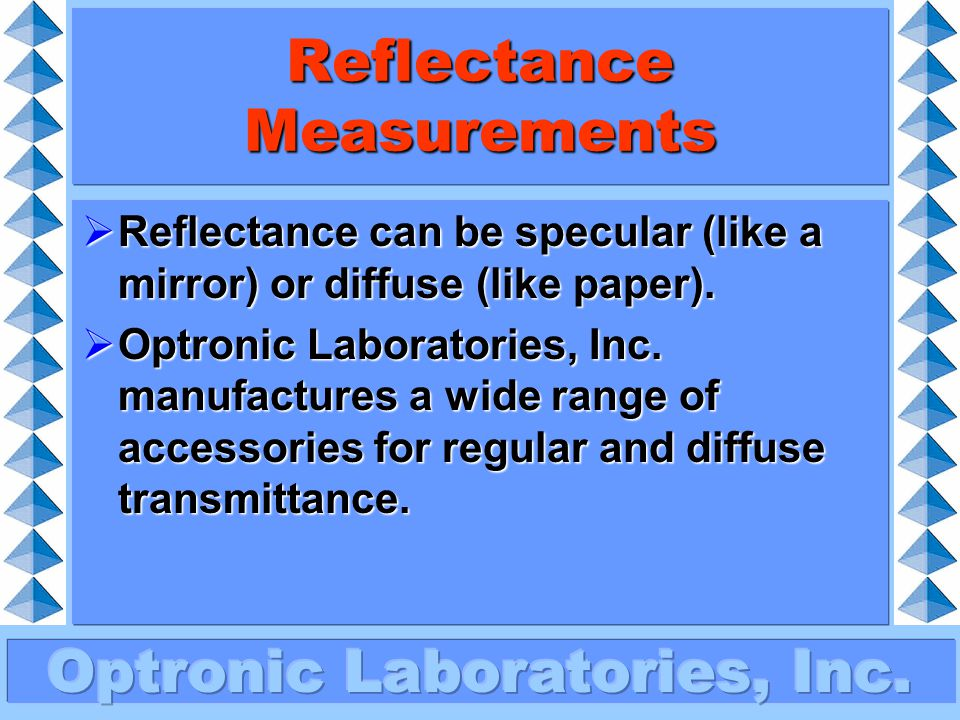 Reflectance Measurements