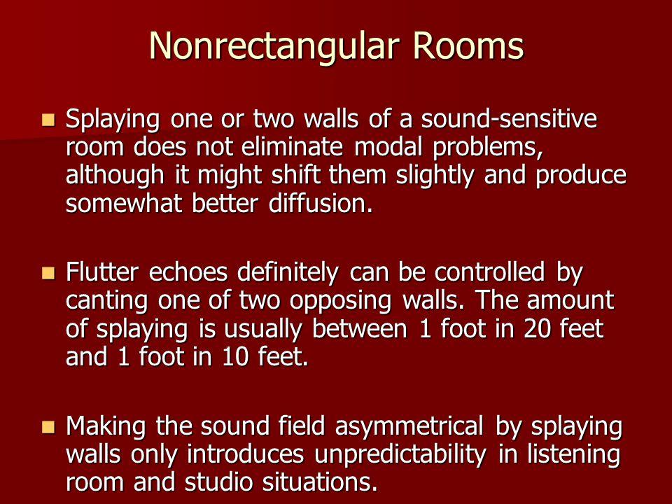 Nonrectangular Rooms