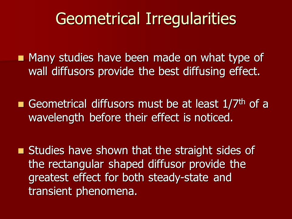 Geometrical Irregularities