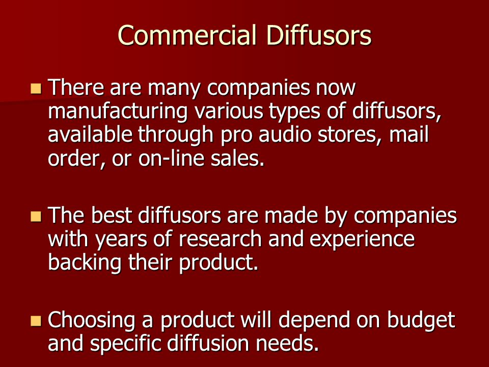 Commercial Diffusors