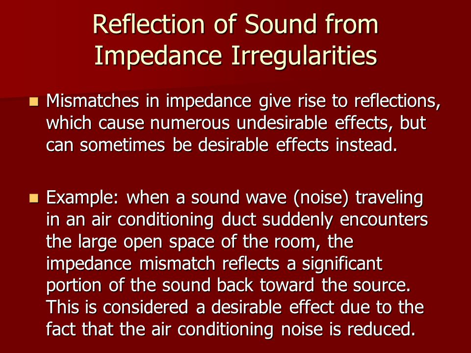 Reflection of Sound from Impedance Irregularities