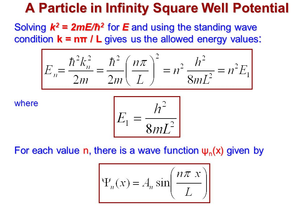A Particle in Infinity Square Well Potential