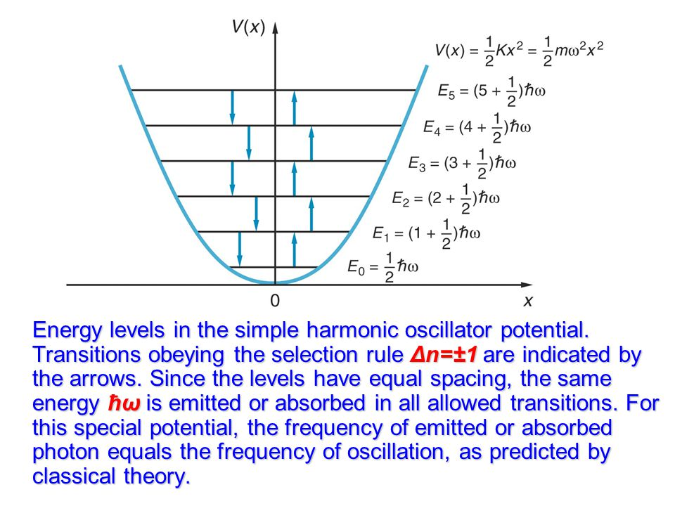 Energy levels in the simple harmonic oscillator potential