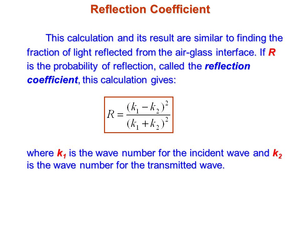 Reflection Coefficient