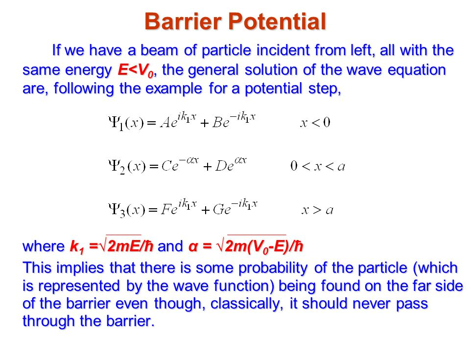 Barrier Potential