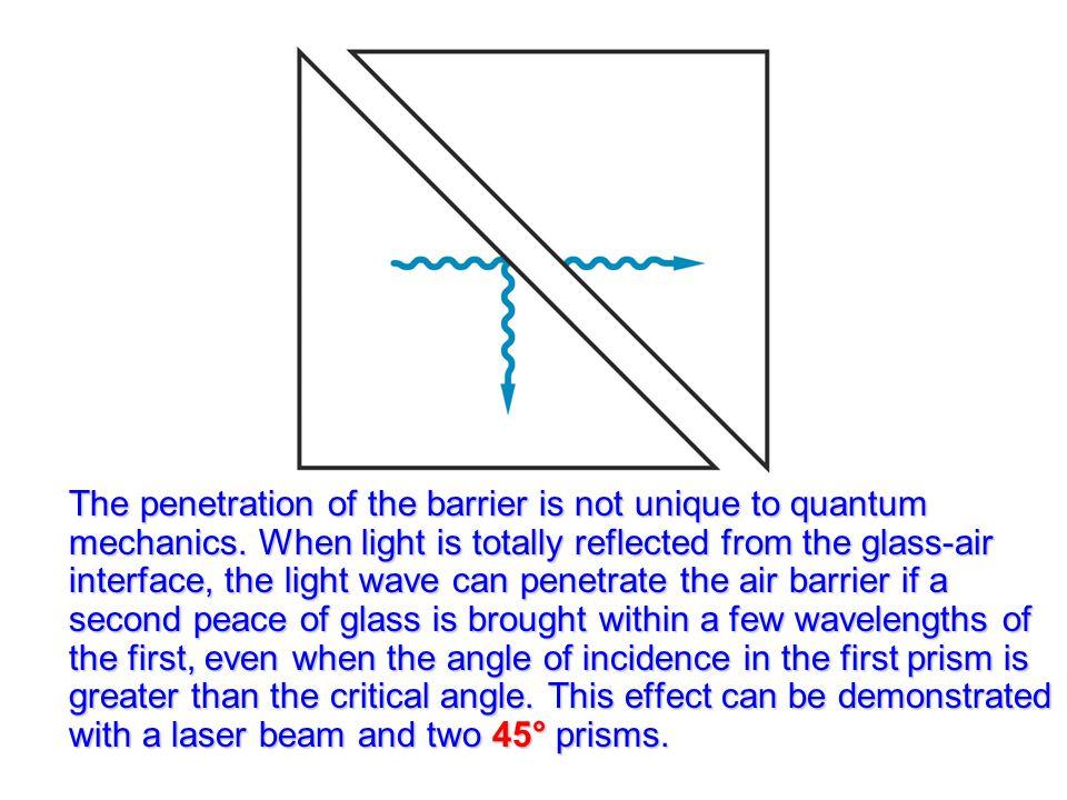 The penetration of the barrier is not unique to quantum mechanics