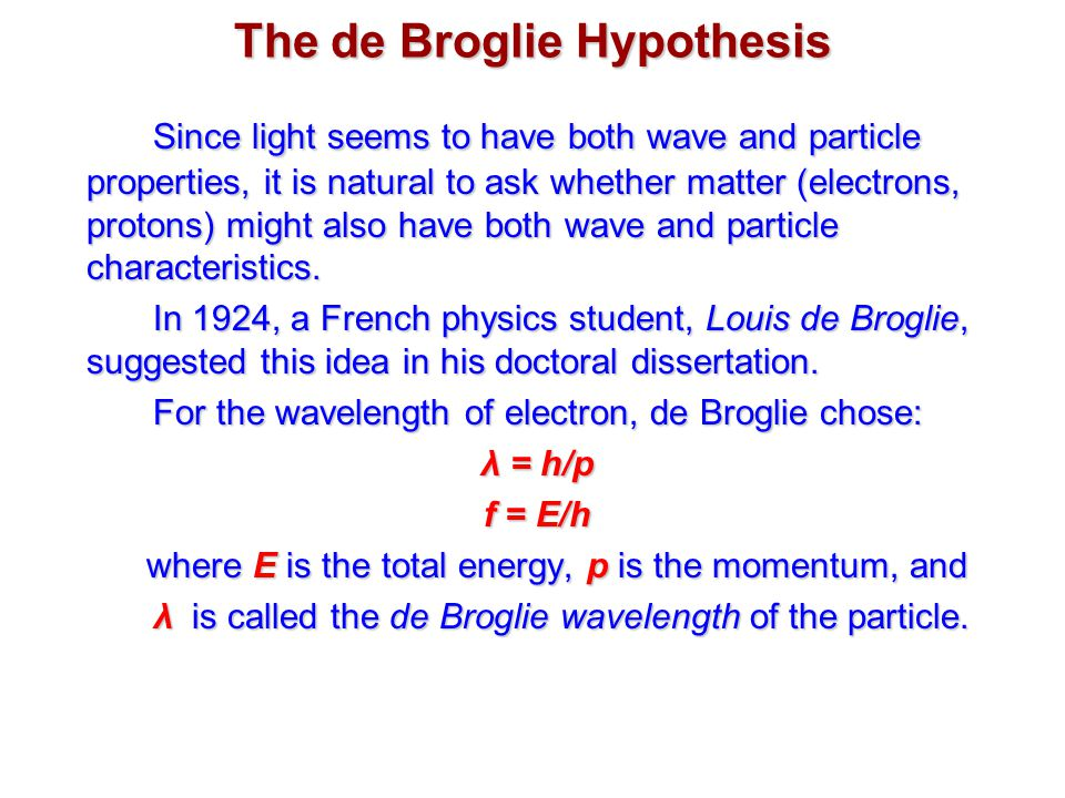 debroglie thesis Broglie phd dissertation comdaniel snaith phd dissertation de broglie phd thesis law of essays on your expectations covering three minute thesis for scheduled.