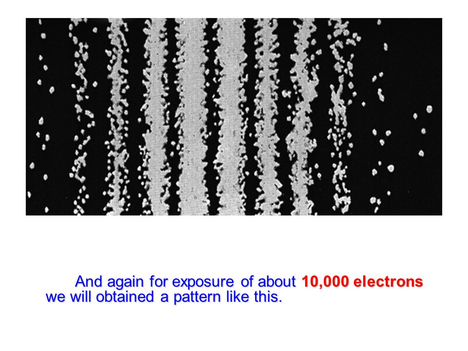 And again for exposure of about 10,000 electrons we will obtained a pattern like this.