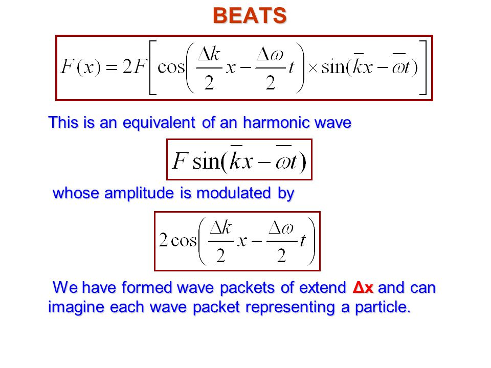 BEATS This is an equivalent of an harmonic wave