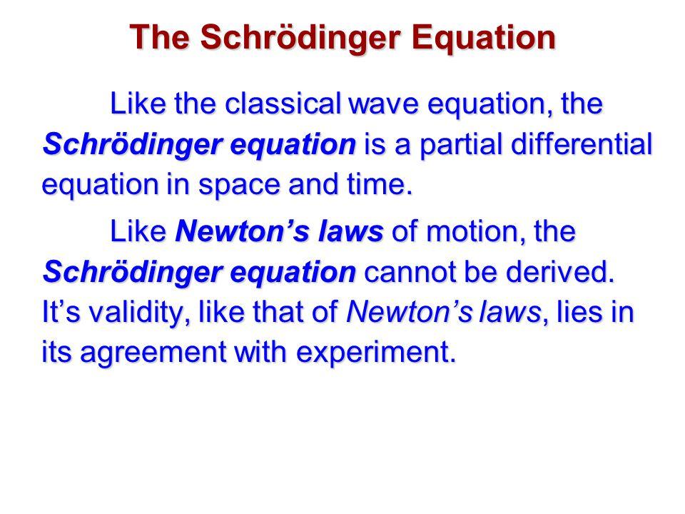 The Schrödinger Equation