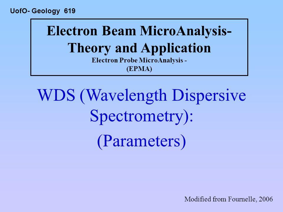 WDS (Wavelength Dispersive Spectrometry):