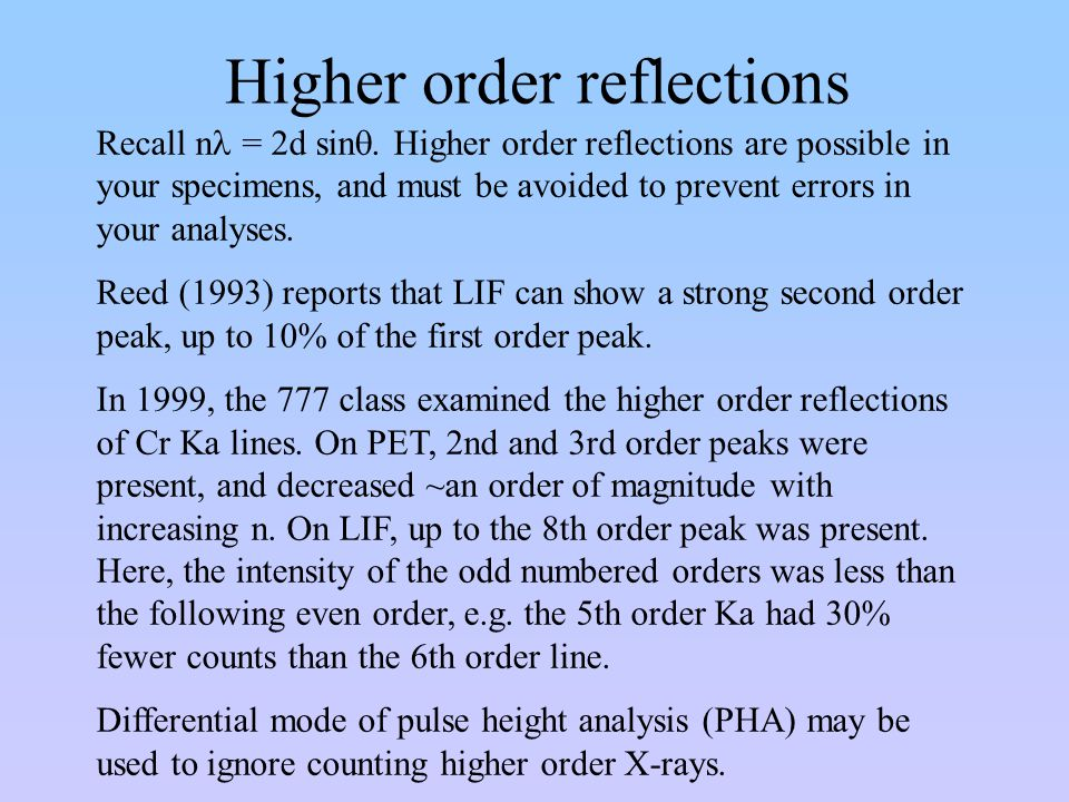 Higher order reflections