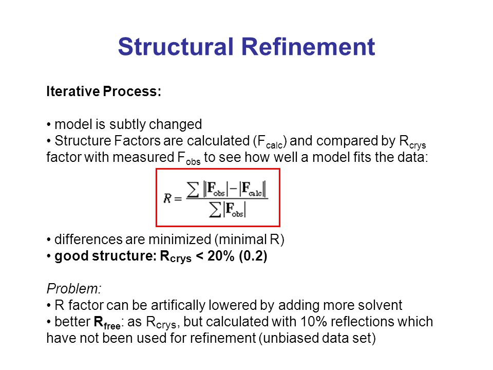 Structural Refinement