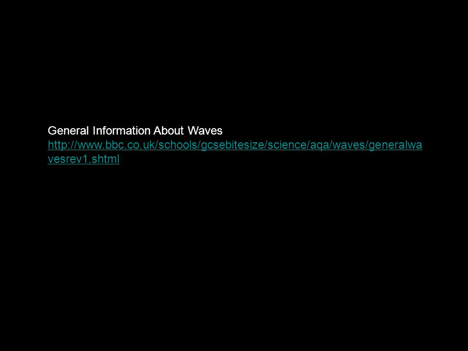General Information About Waves