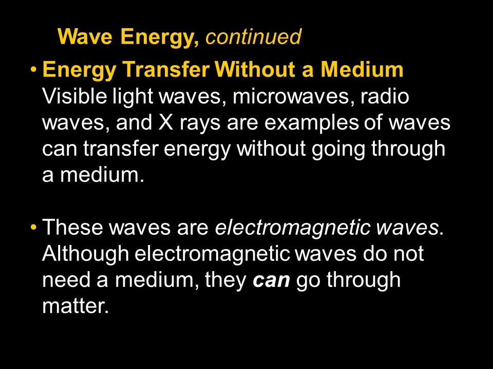 Wave Energy, continued