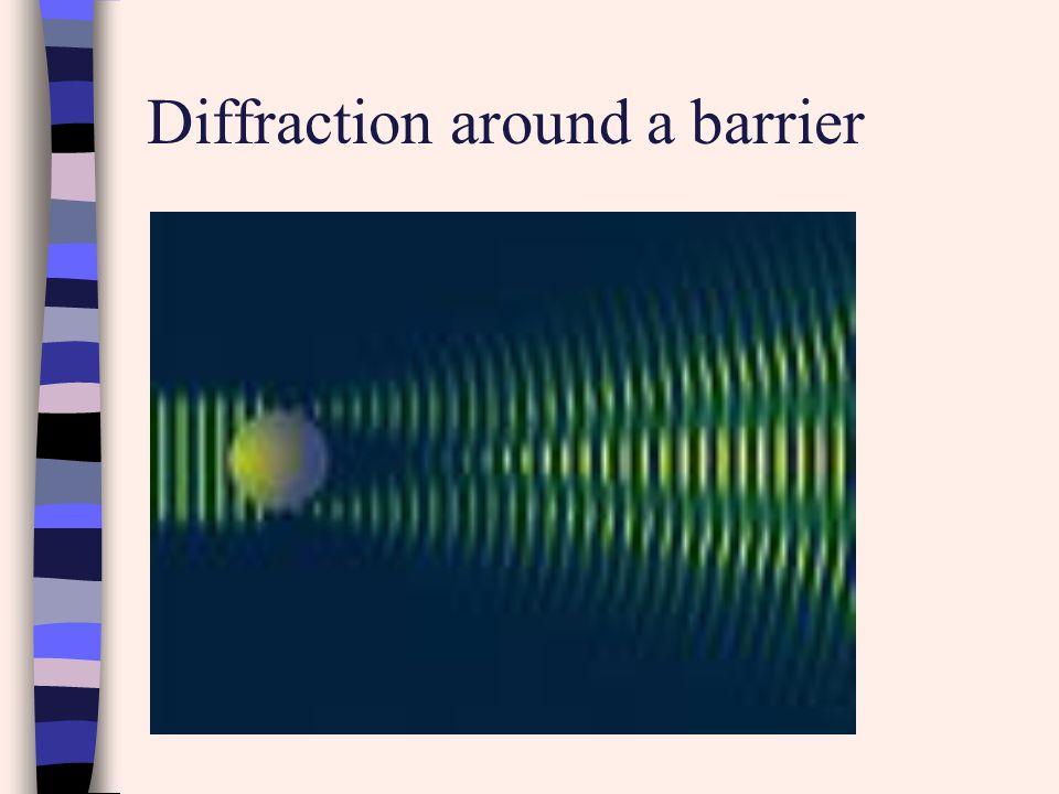 Diffraction around a barrier