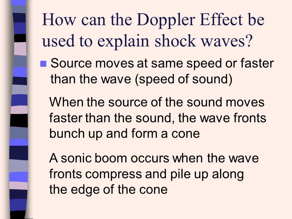 How can the Doppler Effect be used to explain shock waves