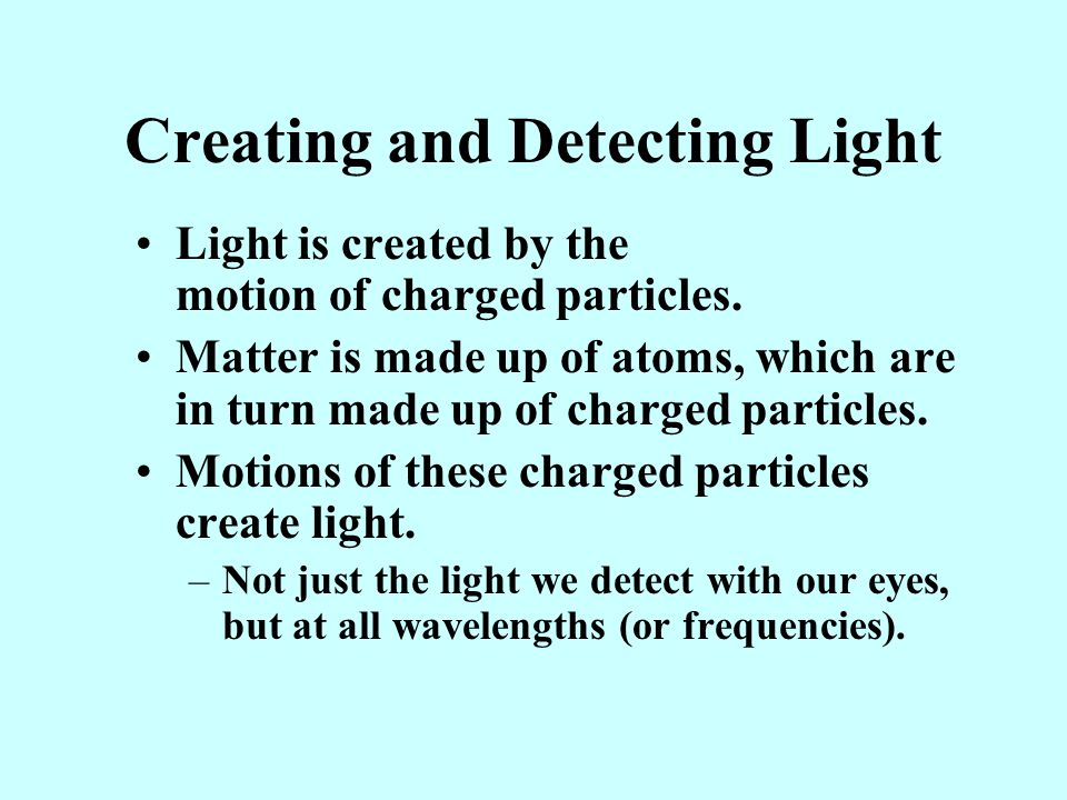 Creating and Detecting Light