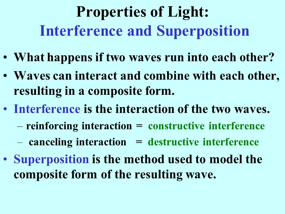 Properties of Light: Interference and Superposition