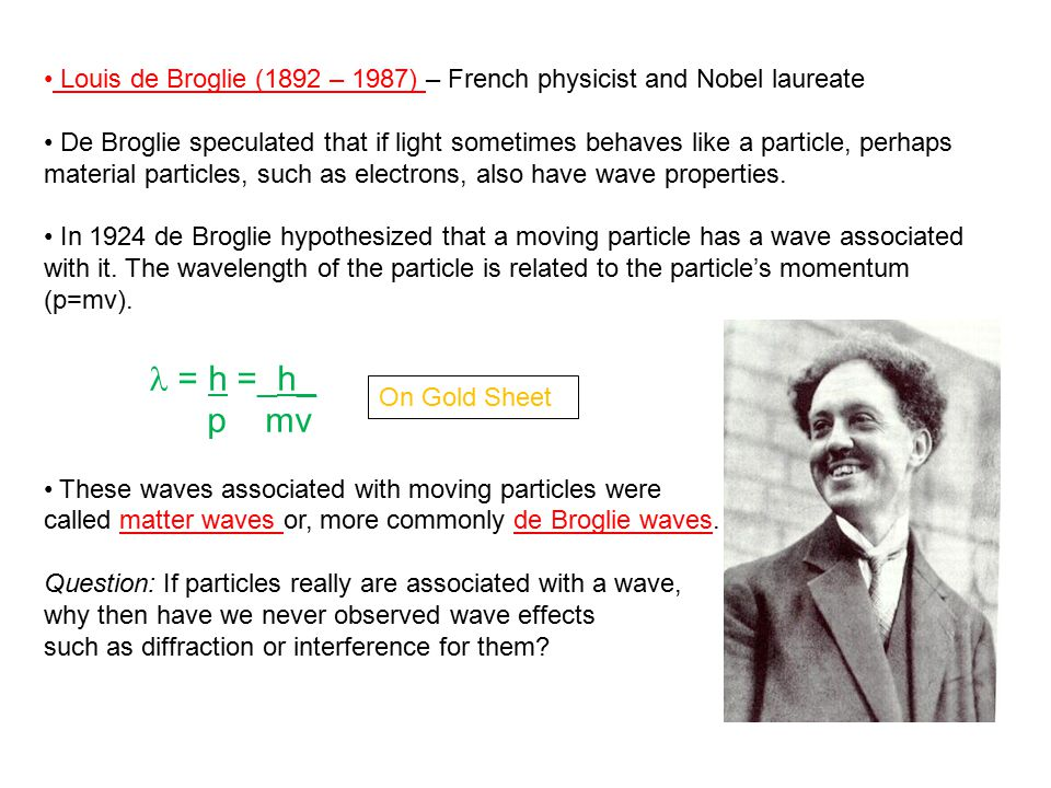 Louis de Broglie (1892 – 1987) – French physicist and Nobel laureate