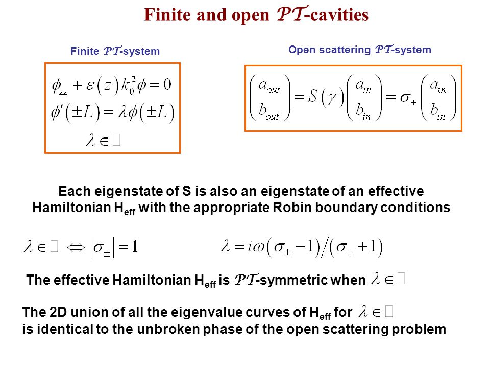 Finite and open PT-cavities