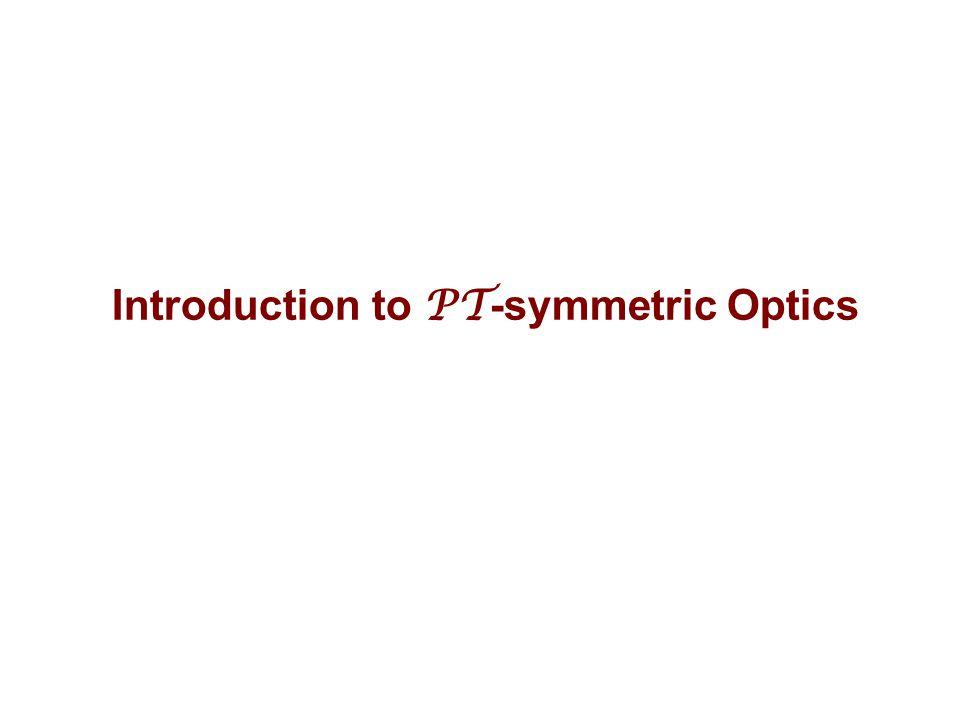 Introduction to PT-symmetric Optics