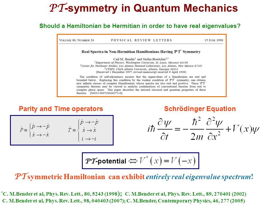 PT-symmetry in Quantum Mechanics
