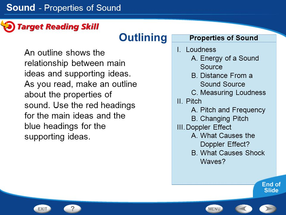 Outlining - Properties of Sound